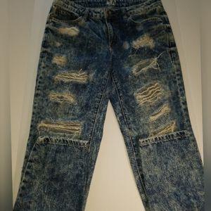 Garage denim distressed jeans